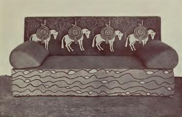 Диван (Эскиз Н.К. Рериха для мастерских в Талашкине)  1904