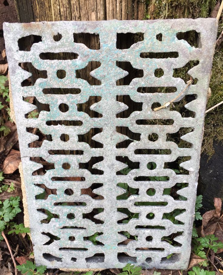 Victorian cat iron air-brick cover? Beautiful design. We have several of these but I think this is the most beautiful pattern. #recycle #bristows #castiron #industrial #industrialdesign #vintage #victorianhouse #salvo #reuse #upcycle