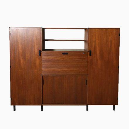 Kleiderschrank von Cees Braakman für Pastoe, 1957 Kleiderschränke - schlafzimmerschrank weiß hochglanz
