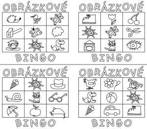 Bingo, obrázkové hrací karty