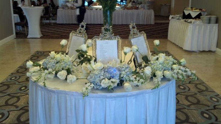 Wedding Assigned Seating Idea @ Hilton Greenville, SC