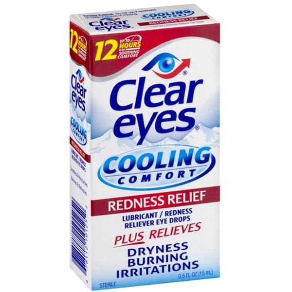 Clear Eyes Cool Comfort Redness Relief Eye Drops Have A Unique Ophthalmic Eye Solution Called Occuthol That Instantly Clear Eyes Eye Drops Lubricant Eye Drops