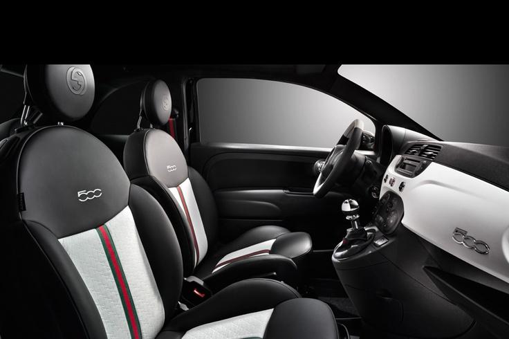Gucci car interior leather Fiat 500 gucci, Fiat 500