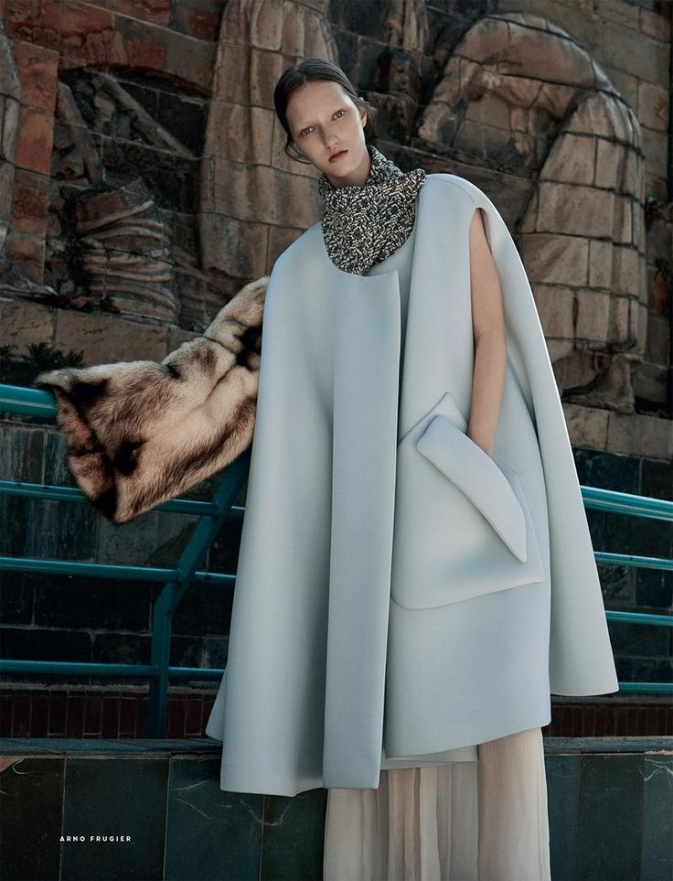 My Life in Art: Liza Ostanina by Arno Frugier for Vogue Russia December 2015 - Dior Fall 2015 Haute Couture