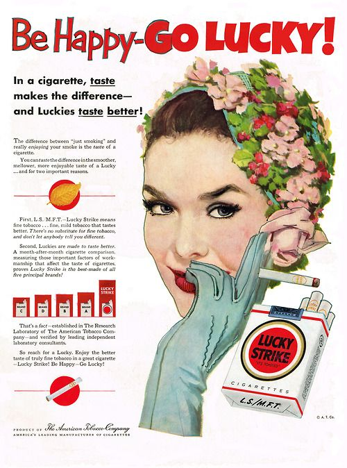 lucky strike smoke galaxy pinterest vintage ads. Black Bedroom Furniture Sets. Home Design Ideas