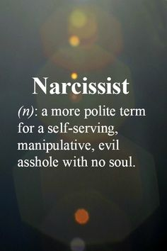 I love when narcissists claim their partners are narcissists. Sterical! Have a look in the mirror sweetheart.