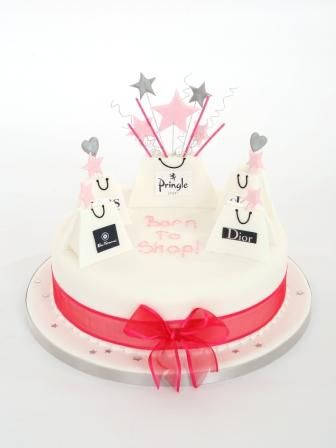 Designer shopping bags - birthday cakes glasgow edinburgh scotland