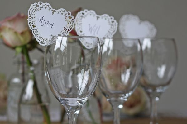 New Wedding Decorations {Love Shack Sign, Hessian Table Centres, Name Place Cards}