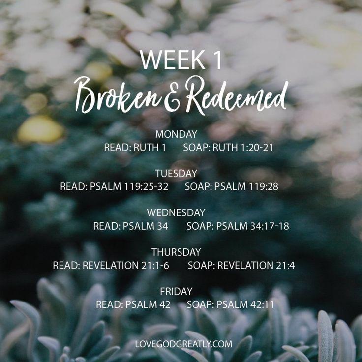 {Week 1 - Reading Plan} #BrokenAndRedeemed Bible Study @ LoveGodGreatly.com