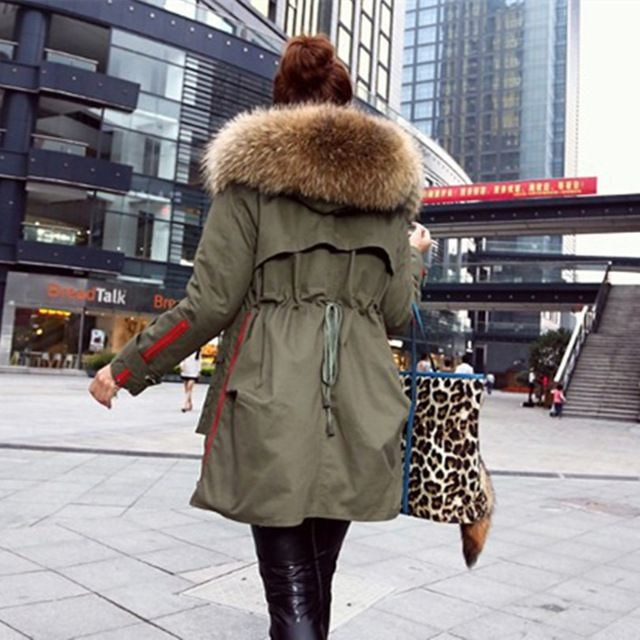 New 2016 Winter Coats Women Jackets Real Large Raccoon Fur Collar Thick Cotton Padded Lining Ladies Down & Parkas army green  US $84.00-117.0 /piece      CLICK LINK TO BUY THE PRODUCT   http://goo.gl/4du0DP