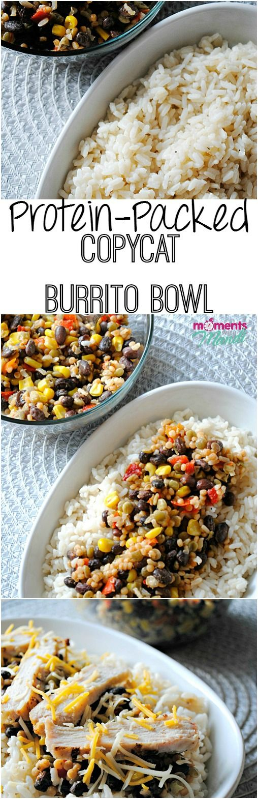 Beat the summer heat and avoid making the kitchen hot with this microwave-ready proten packed Copycat Burrito Bowl featuring Tyson Grilled & Ready Chicken Breast Fillets and Bird's Eye Steamfresh Protein Blends