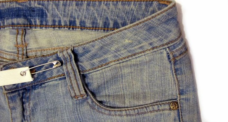 astuce pour diminuer la taille d 39 un pantalon ou jean en ins rant tout simplement un lastique. Black Bedroom Furniture Sets. Home Design Ideas