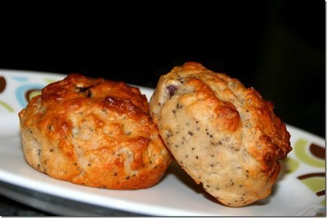 Skinny Blueberry Lemon Poppy Seed Muffins.  Made with Greek yogurt & apple sauce instead of egg yolks and oil.  Low fat, lower calorie and Weight Watchers friendly, a perfect treat.