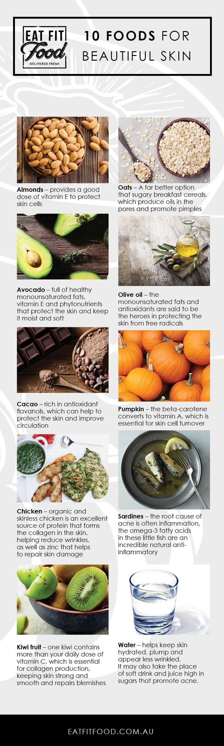 foods good for skin INFOGRAPHIC