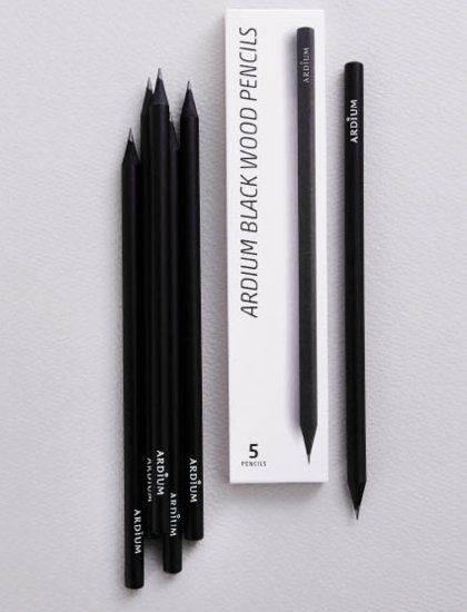 Ardium Black Pencil Set #packaging #minimalism loved at @rockcandymedia #theantitemplate