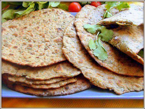 Роти, полезный индийский хлеб с чечевицей. Roti.