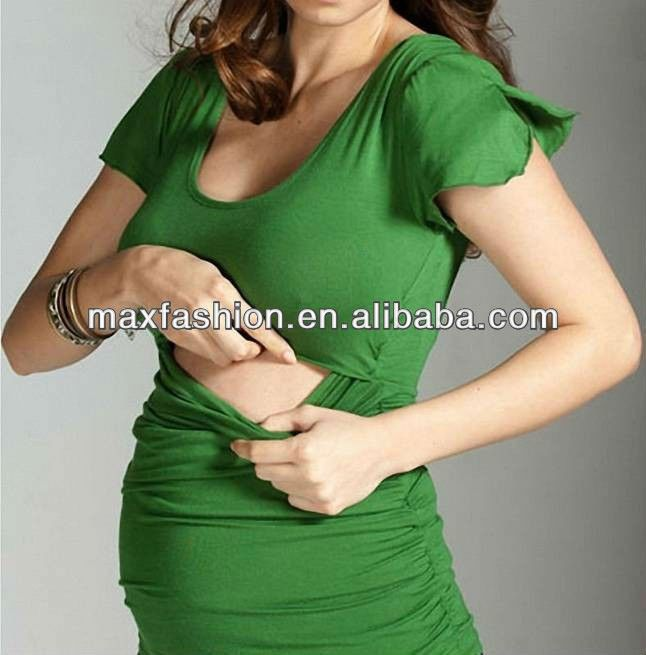 2014 Fashion Short Sleeve Maternity Nursing Top $7~$11