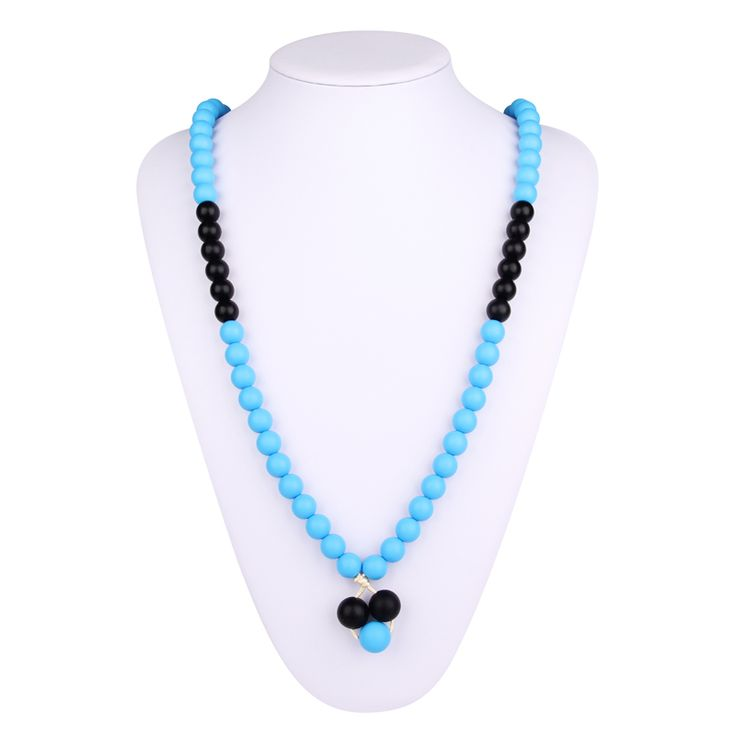 Baby early teething discomfort,BPA Free Silicone Necklaces was made of  food grade silicone,Best soothing method for baby and the most fashionable silicone teething necklace for mom.