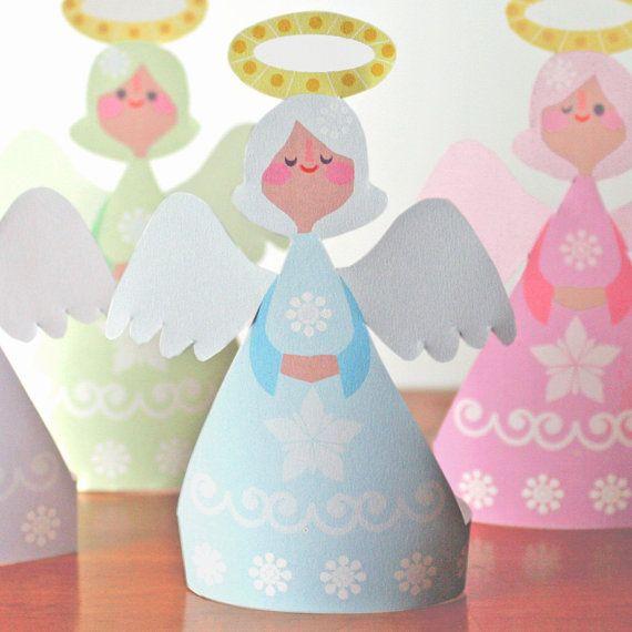 Little Angels Christmas Printable Ornaments