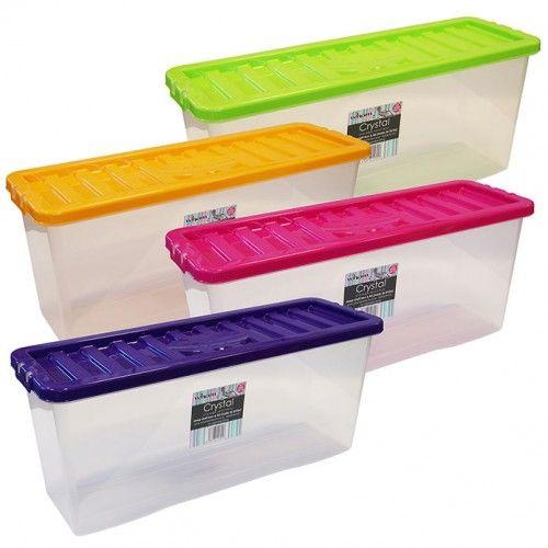dvd storage boxes 26 litre plastic dvd box