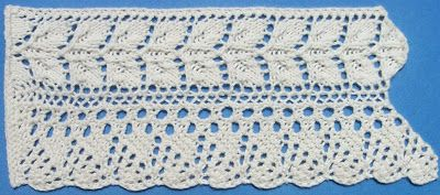 1884 Knitted Lace Sample Book: 27. Rose Leaf Lace
