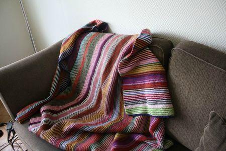 couverture avec des restes de laine