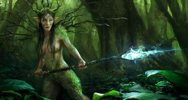 Concept of a forest lady #sexy #lady #conceptart #forest #driada #magic #fantasy #spell