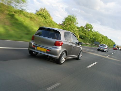 Toyota yaris t sport rolling shot on the motorway   Board Mobil Mewah - From: http://pasutri.us