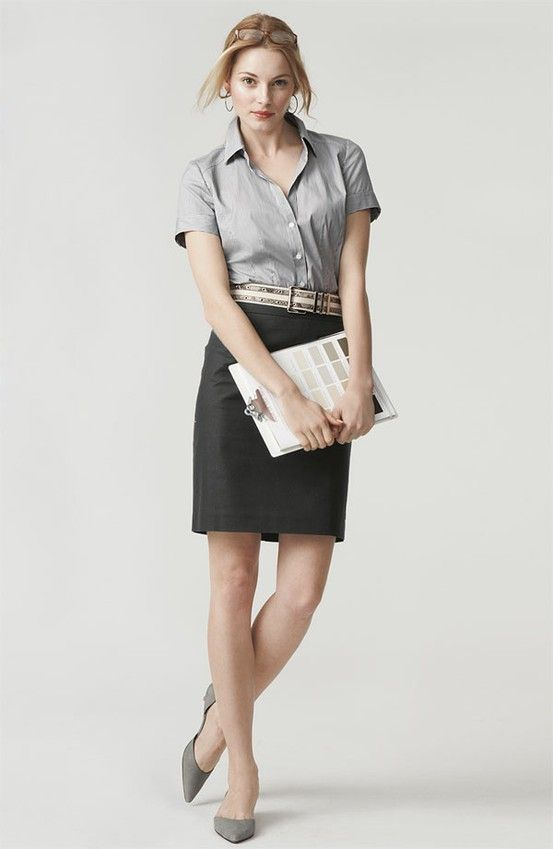 chic office wear fashion inspiration young intern workwear