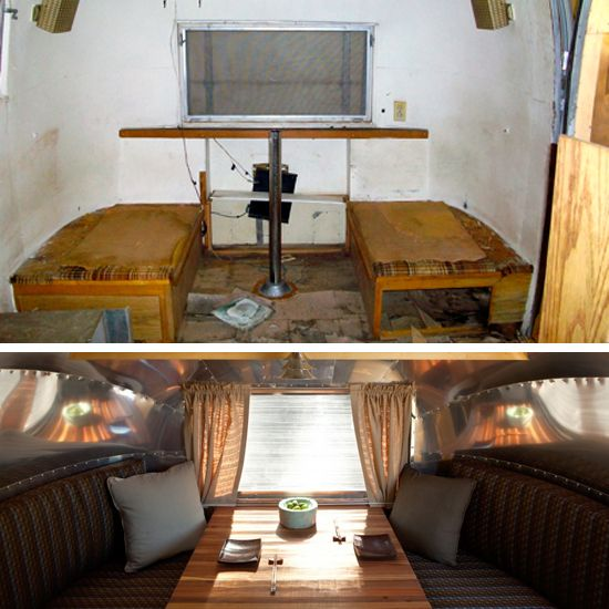 Before and After: Get Ready to Rough It in Style With a Decked-Out, Fully Renovated Airstream :)
