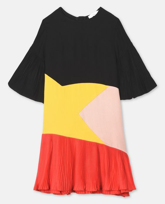 Color Block Dress - Stella Mccartney Kids Official Online Store - FW 2018  - 2019 01d04d0323705