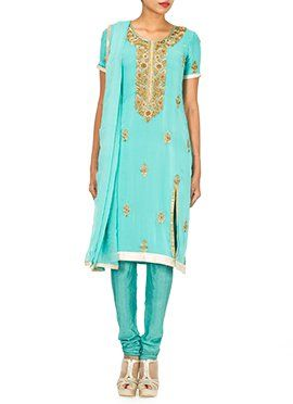 Embellished Georgette Churidar Suit