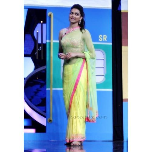 Buy Deepika Padukone Lemon Yellow Net Bollywood Saree online. ✯ 100% authentic products, ✯ Hand curated, ✯ Timely delivery, ✯ Craftsvilla assured.