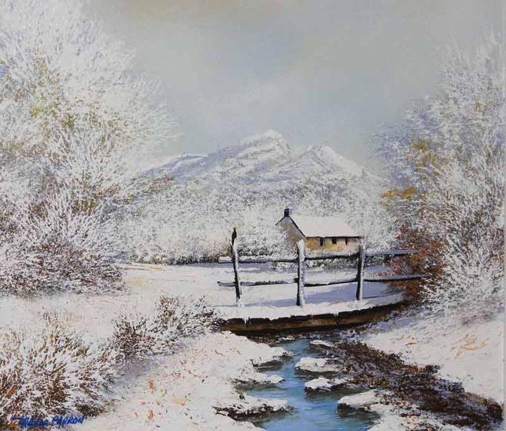 Les 25 meilleures id es de la cat gorie paysage de neige - Dessiner un paysage d hiver ...