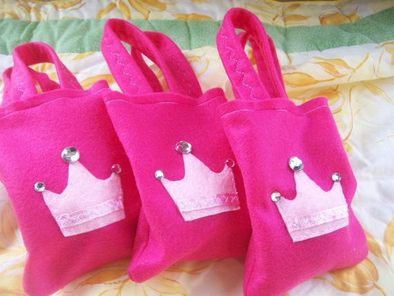 Bolsas de Set del partido 6 Princess Party All rosa