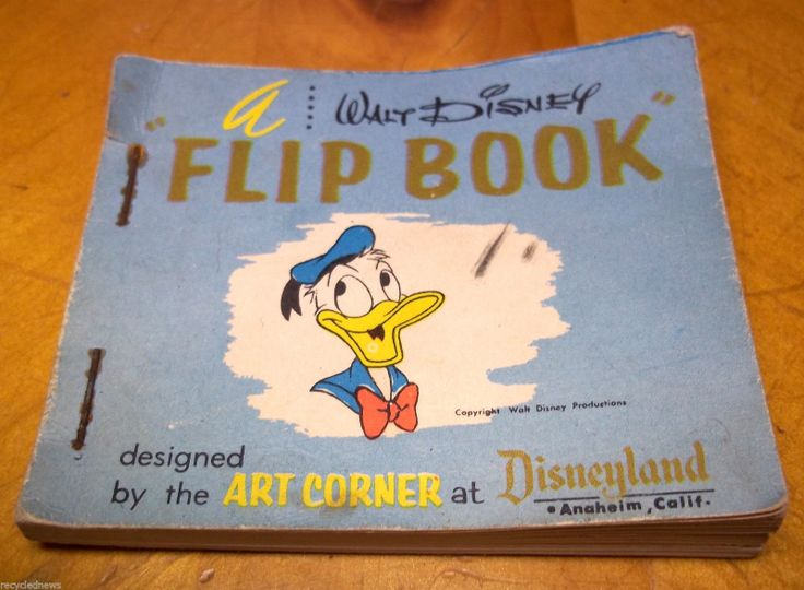 RARE Walt Disney Flip Book Donald Duck Designed By Art Corner At Disneyland