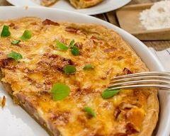 Quiche au chaource, jambon et bacon | Cuisine AZ
