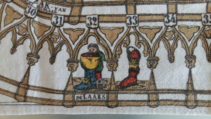 Sinterklaas spel op een theedoek, uit gegeven door SUNLIGHT