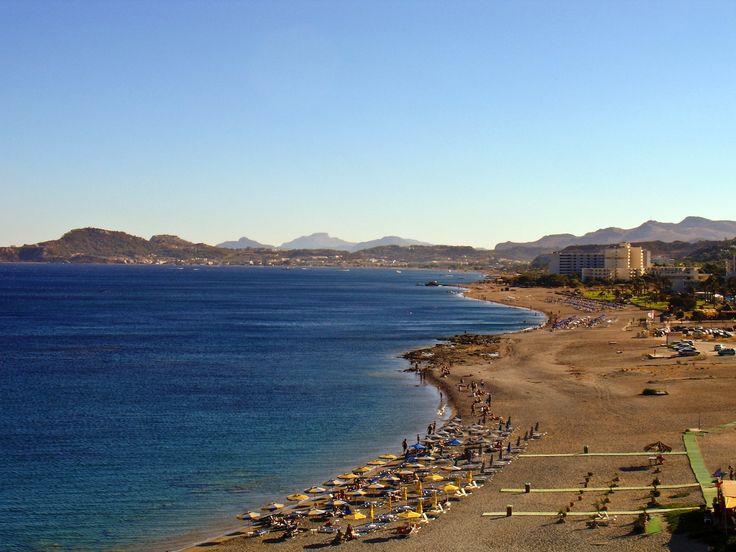 Faliraki beach in Rhodes, Greece