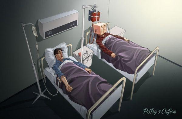 Satirische Cartoons von Petry und Crisan