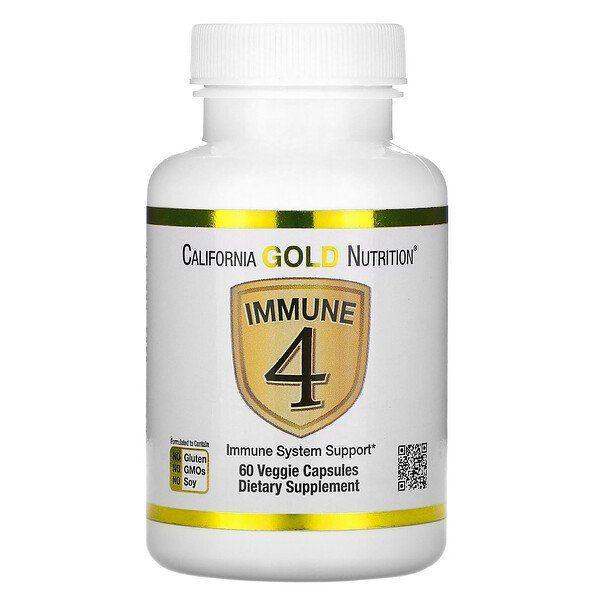 California Gold Nutrition Immune 4 Immune System Support 60 Veggie Capsules Immune System Support Immune System Vitamins Vitamin D Benefits