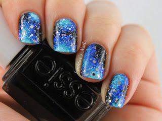 Spektors Nails: Galaxy Nails with Acrylic Paint