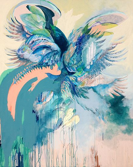 Exhibition Opening August 26 Nikky Morgan-Smith Murrmerate mixed media on board 189 x 120 cm