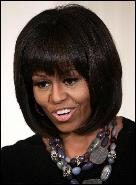 5 Michelle Obama Frisuren Klassischer Haarschnitt 2019 Frisuren