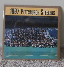 Vintage Pittsburgh Steelers 1997 Foto de equipo Cartel Retractilado