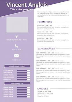 Exemples de CV à Remplir gratuit à télécharger