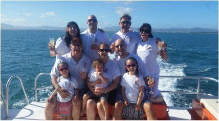 Fiji Wedding Charter boat