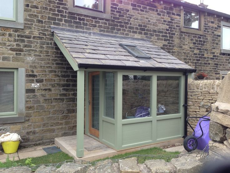 Contemporary Built Porch Extension: Upper Cumberworth