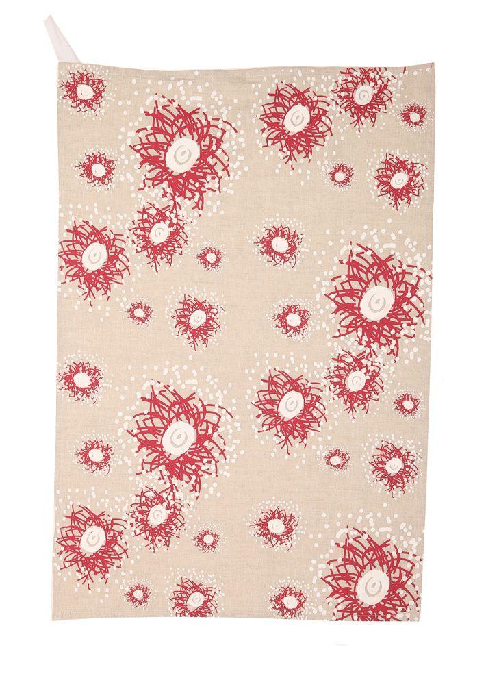 Gum blossoms Tea Towel
