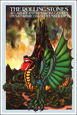 Rock Concert Poster Artists | Rolling Stones Concert Poster Cardiff Penbroke Castle Concert Posters